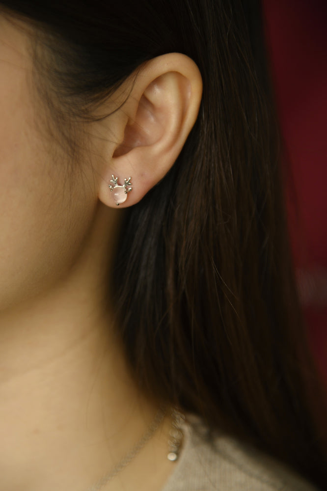 Prancer Clear Studs (S925)