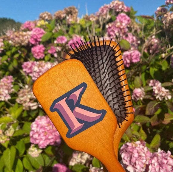 AVEDA Large Personalised Wooden Paddle Brush