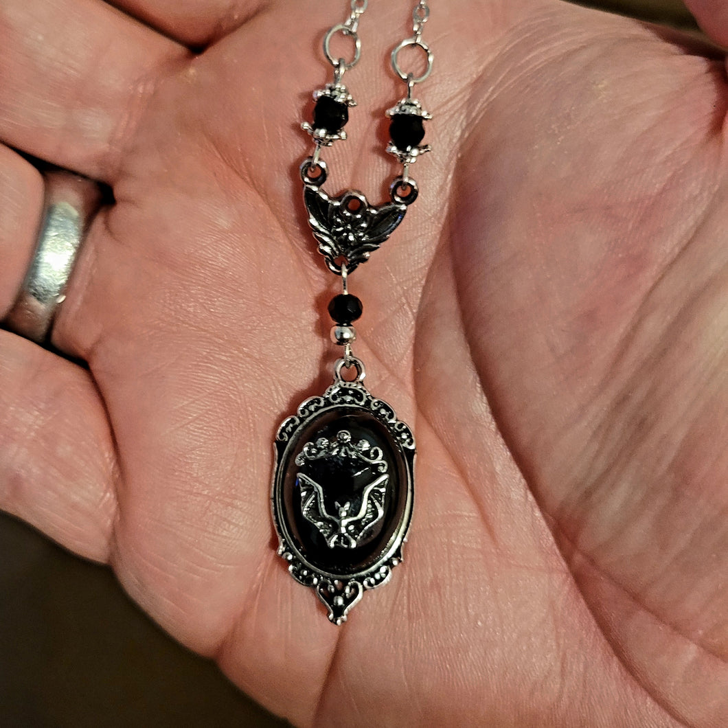 Mini Gothic Bat Pendant