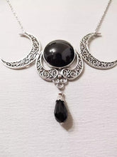 Load image into Gallery viewer, Witchy Triple Moon Goddess Necklace