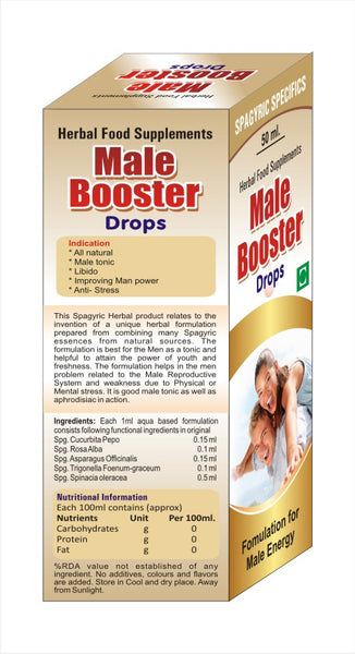 Male Booster Herbal Drops-50ml (Fomulation for Male Energy)