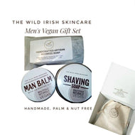 Men's Vegan Gift Set. Shaving Lotion, Clay Face Mask, Post Shave Man Balm & exfoliating Hand Soap. - TheWildIrishSkincare
