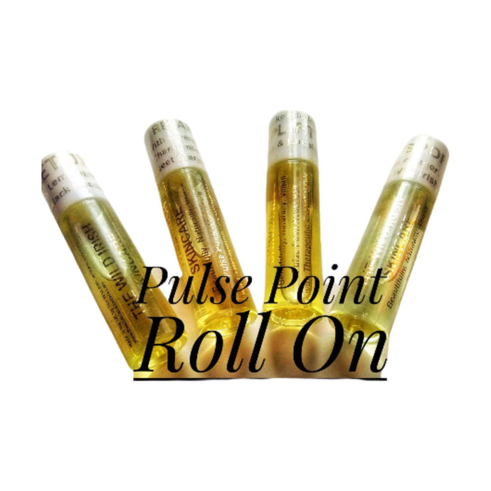 Gift Set.Pulse Point Roll On. 4 X 10 ml.  Relax, Detox, Sports, Uplift. Natural Perfume with Therapeutic Essential Oils - TheWildIrishSkincare