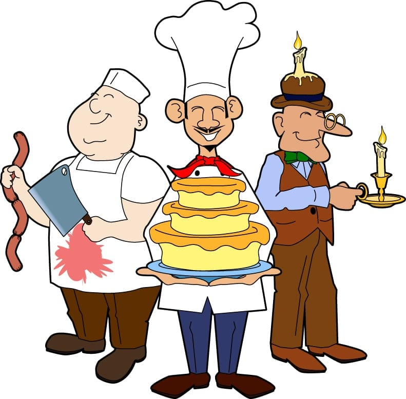 Our stickers are great for the butcher, the baker, and the candle maker