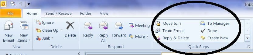 increase productivity with outlook quick steps