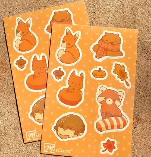 make your own sticker sheets