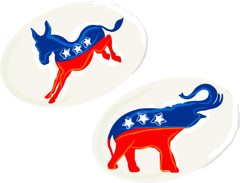 party stickers political