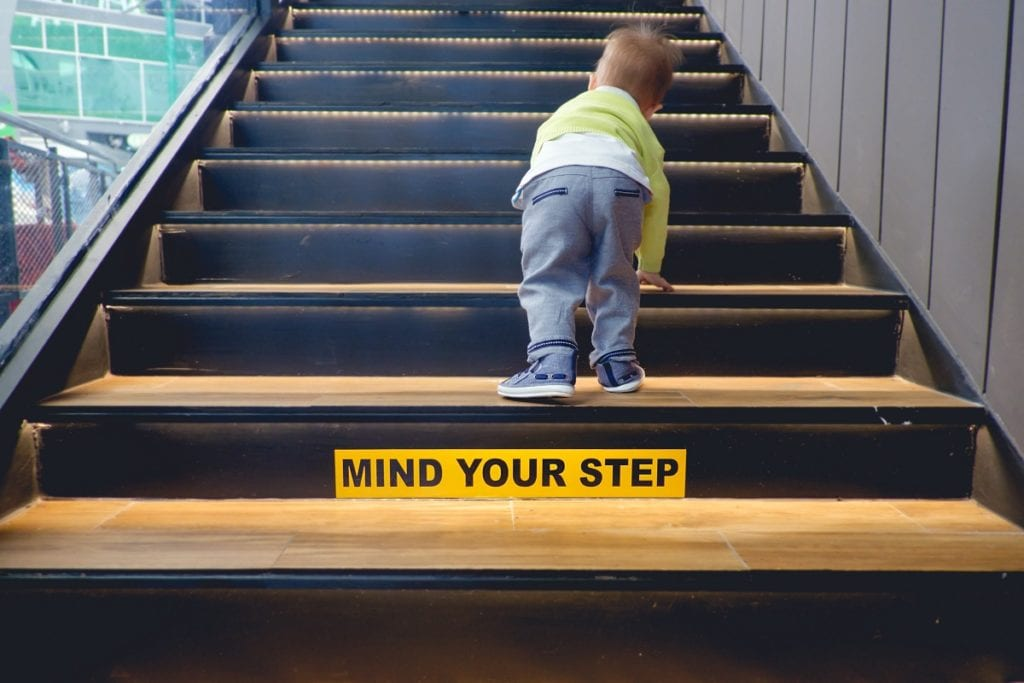 stairway safety stickers