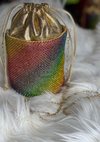 Rainbow Bling Drawstring Clutch
