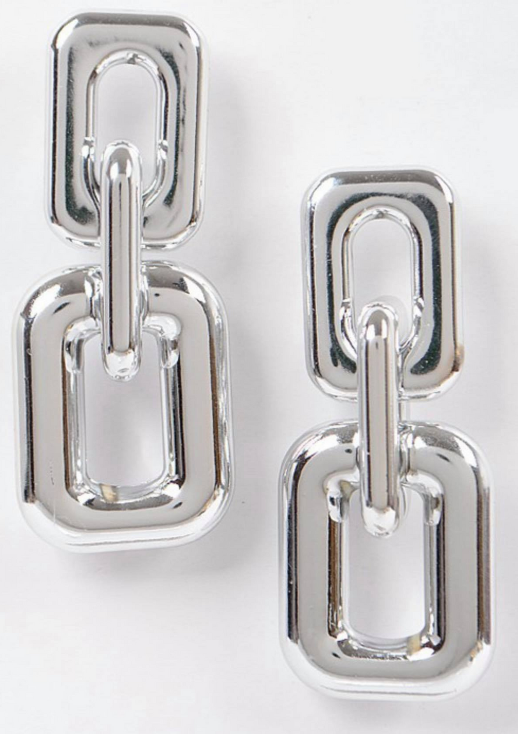 Silver Link Earrings
