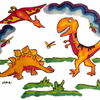 Paint Dinosaurs!  Powerful Pillow Cases Paint Kit
