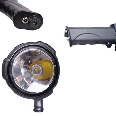 25W CREE LED Handheld Spot Light Rechargeable Spotlight Hunting Shooting 12V - Aussie Camping Store