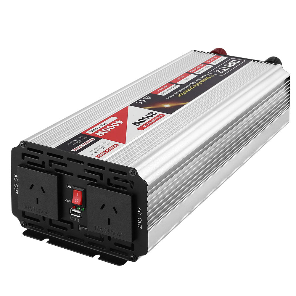 Giantz Power Inverter 2000W or 4000W Pure Sine Wave 12V-240V  Boat Camping Caravan