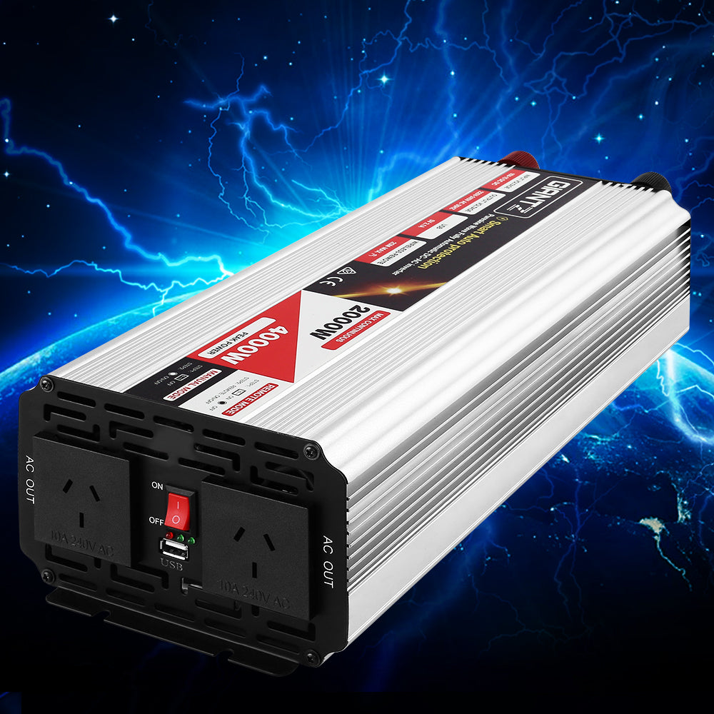 Giantz Power Inverter 2000W or 4000W Pure Sine Wave 12V-240V Dynamic