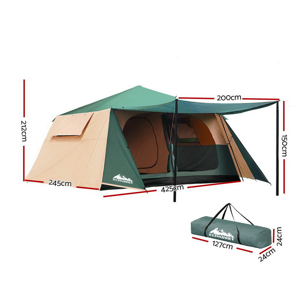 Weisshorn 8-Person Family Pop Up Dome Camping Tent