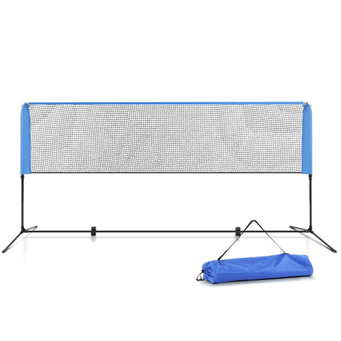 Everfit Portable Sports Net Stand Badminton Volleyball Tennis Soccer 3m 3ft Blue - Aussie Camping Store
