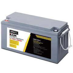 Giantz 200Ah Deep Cycle Battery 12V AGM Marine Sealed Power Portable Box Solar Caravan Camping - Aussie Camping Store