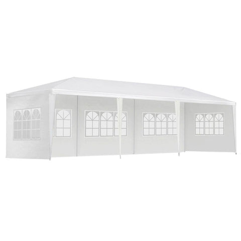 Instahut Gazebo 3x9m Outdoor Marquee side Wall Gazebos Tent Canopy Camping White 5 Panel - Aussie Camping Store