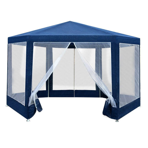 Instahut Gazebo Wedding Party Marquee Tent Canopy Outdoor Camping Gazebos Navy - Aussie Camping Store