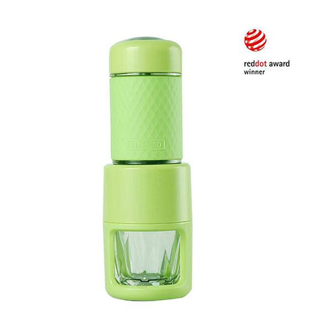 STARESSO Coffee Maker Red Dot Award Winner Portable Espresso Cappuccino Quick Cold Brew Manual Coffee Maker Machines All in One - Green - Aussie Camping Store