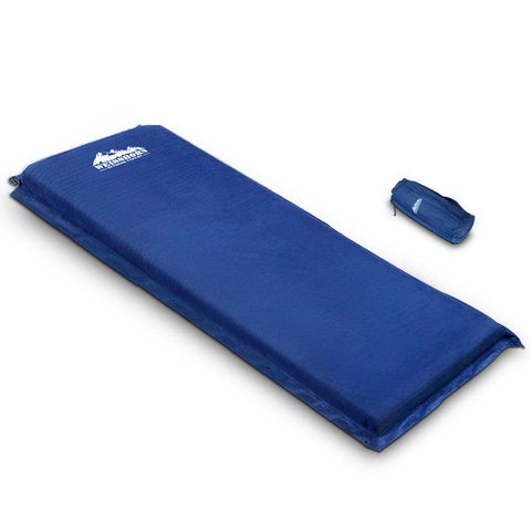 Weisshorn Single Size Self Inflating Matress - Blue - Aussie Camping Store