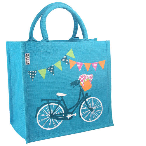 Jute Shopper- Bicycle