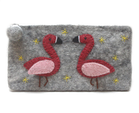 Felt Flamingo Purse
