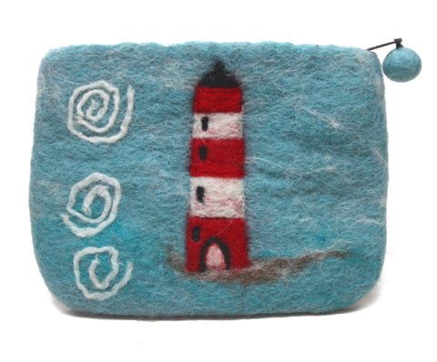 Felt Lighthouse Purse