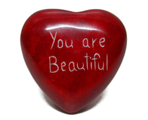 Soapstone Heart- You Are Beautiful