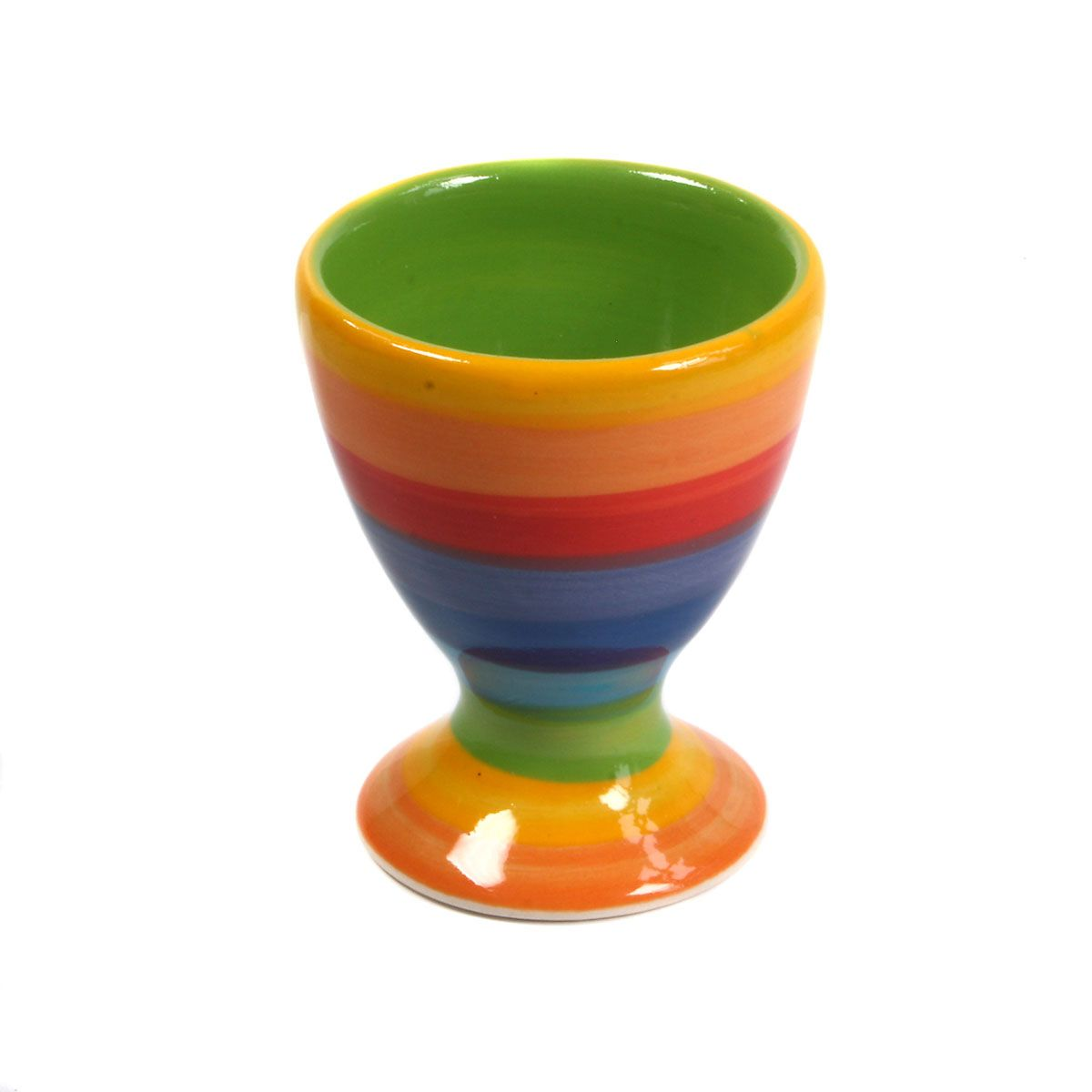 Rainbow Stripe Egg Cup