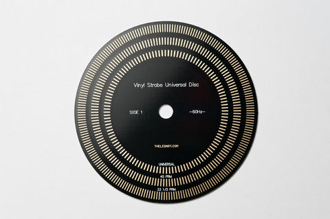 Gold Plated Stroboscope Disc for Turntables