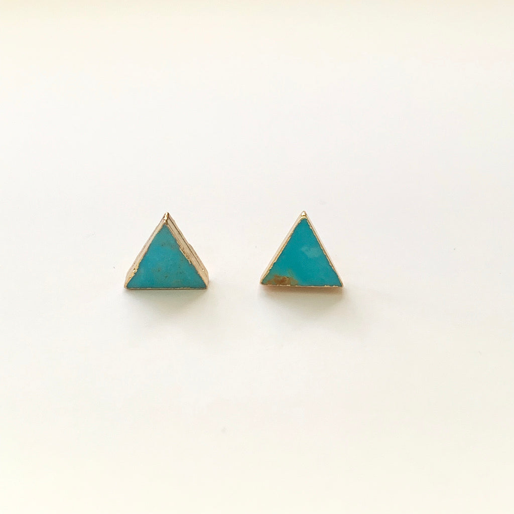 Howlite Triangle Stud Earrings