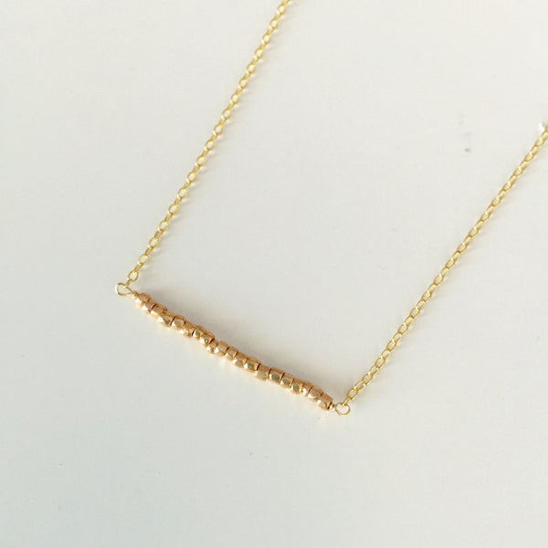 Sterling Bead Bar Necklace