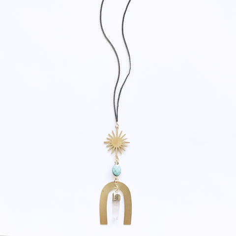 Sunburst and Mystical Geometry Necklace