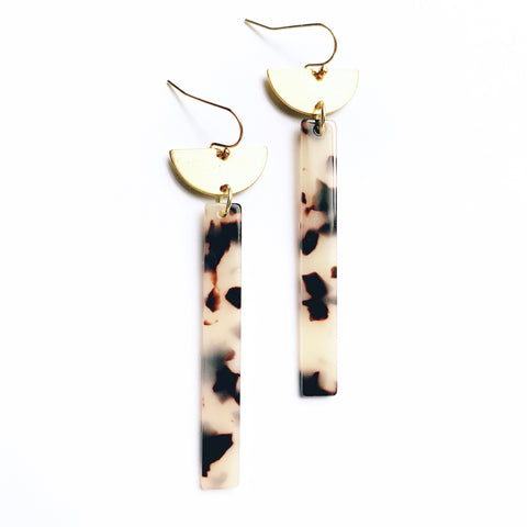 Acetate Bar and Semi-Circle Earrings