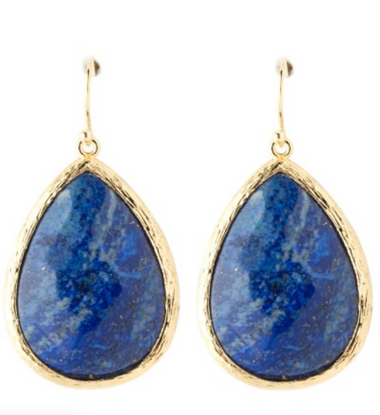 Large Drop Stone Earrings