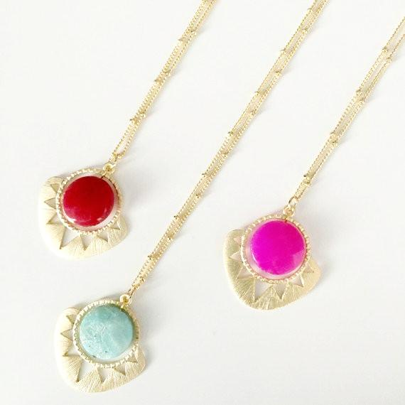 Aztec Sun Stone Necklace