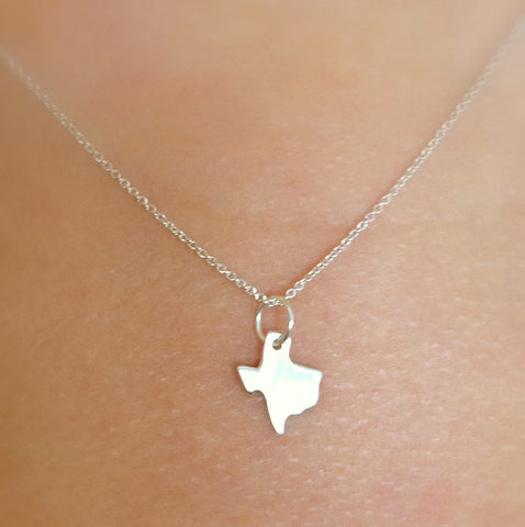 Tiny Sterling Texas Necklace