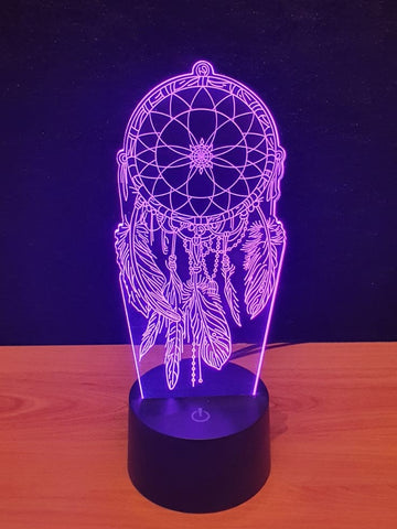 Lampe LED 3D Attrape Rêve