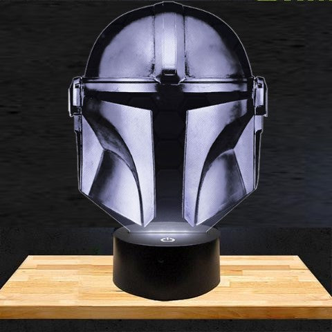 Lampe LED 3D Casque Mandalorian