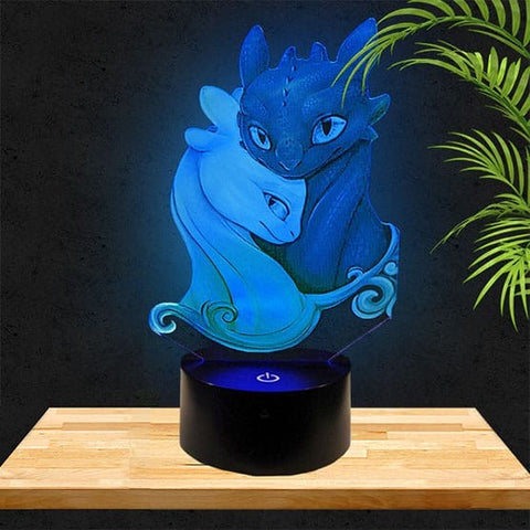 Lampe LED 3D Krokmou | Dragons