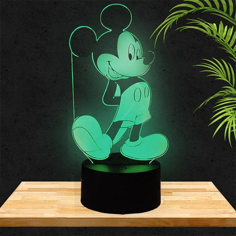 Lampe LED 3D Mickey