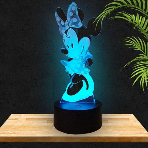 Lampe LED 3D Minnie