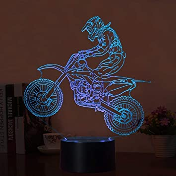 Lampe LED 3D MotoCross