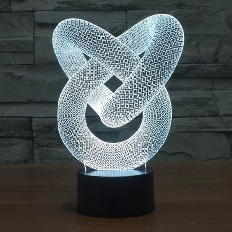 Lampe LED 3D ART ABSTRAIT