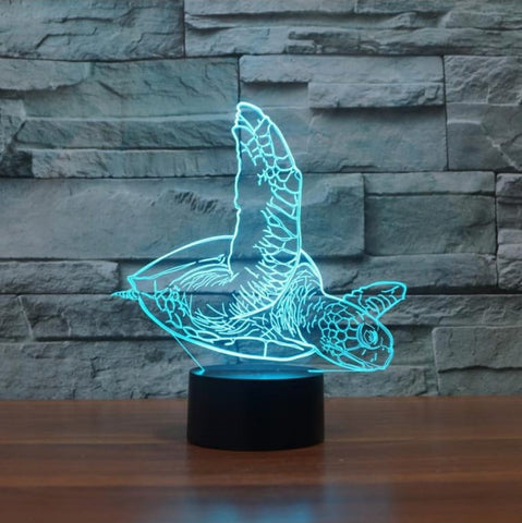 Lampe LED 3D Tortue