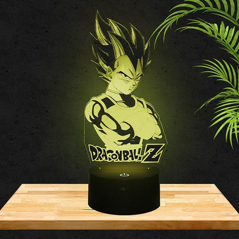 Lampe LED 3D Vegeta | DragonBallZ