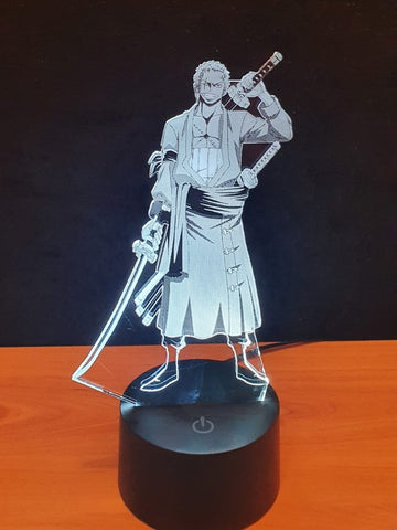 Lampe LED 3D Zoro | One Piece