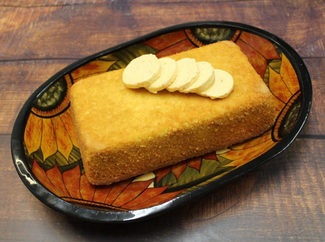 Corn bread with chipotle lime butter