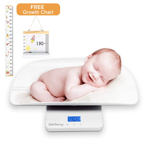 Digital Baby Scale With Growth Chart - Blue Backlight